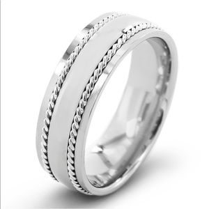 Other - Men's Polished Titanium with Sterling Silver Rope